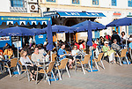 Outdoor cafe tables, Place Moulay Hassan, Essaouira, Morocco