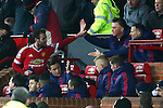 Louis Van Gaal, manager of Manchester United high fives goal scorer Juan Mata - Barclay's Premier League - Manchester United vs Watford - Old Trafford - Manchester - 02/03/2016 Pic Philip Oldham/SportImage