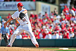 10 March 2010: St. Louis Cardinals' pitcher Shelby Miller on the mound during a Spring Training game against the Washington Nationals at Roger Dean Stadium in Jupiter, Florida. The Cardinals defeated the Nationals 6-4 in Grapefruit League action. Mandatory Credit: Ed Wolfstein Photo