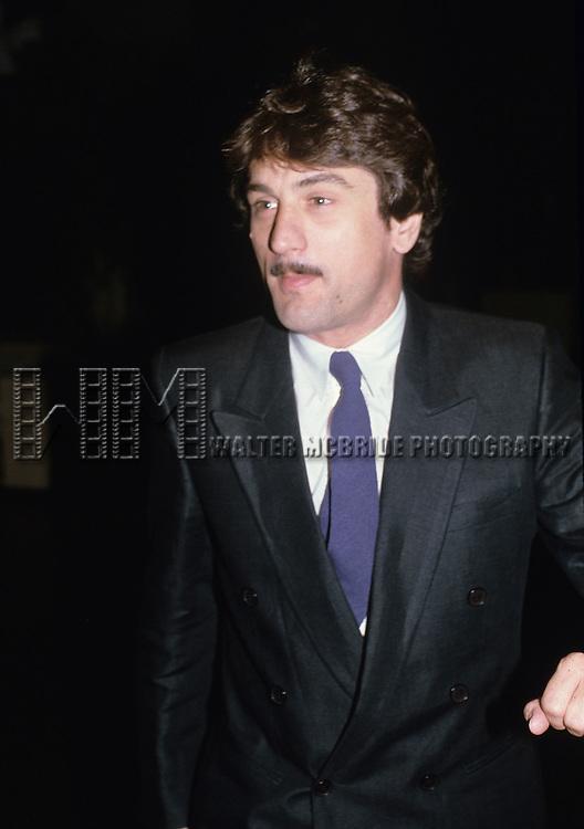 Robert De Niro pictured in New York City on August 10, 1981.