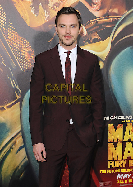 HOLLYWOOD, CA - MAY 7:  Nicholas Hoult at the Los Angeles premiere of &quot;Mad Max: Fury Road&quot; at the TCL Chinese Theatre on May 7, 2015 in Hollywood, California. <br /> CAP/MPI/PGSK<br /> &copy;PGSK/MediaPunch/Capital Pictures