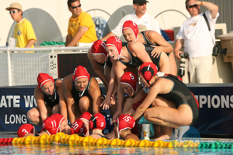 2007 MAY 13:  UCLA takes on Stanford University during the Division I Women's Water Polo Championship held at the Joint Forces Training Base in Los Alamitos, CA.  UCLA defeated Stanford by a score of 5-4 to take home the title.  It was the 100th National Championship in UCLA's history.  Jamie Schwaberow/NCAA Photos