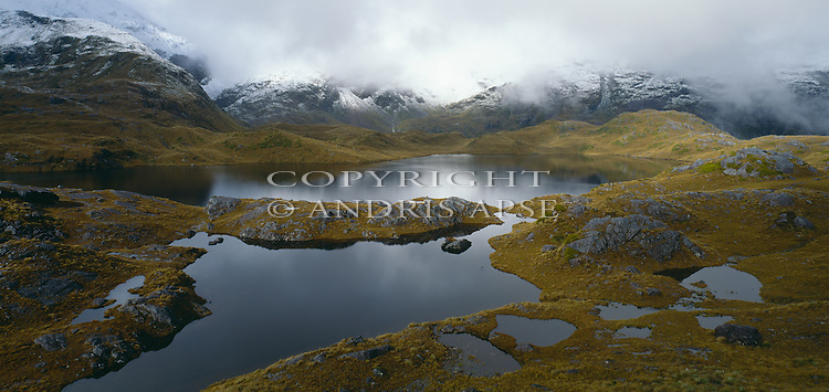 Lake Roe. Fiordland National Park. New Zealand.