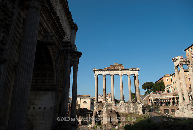 Dedicated in 498 BC, and rebuilt in 42 BC and again in the fourth century, the Temple of Saturn is one of the oldest sacred places in Rome.