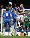 Mikel of Chelsea and Jack Collison of West Ham in action during the Barclays Premiere League match between Chelsea and West Ham United at Stamford Bridge on Sunday March 17, 2013 in London, England Picture Zed Jameson/pixel 8000 ltd.