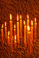 Votive Candles and Textured Background<br />