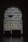 Silhouette pattern of metalwork on one of the doorways to the former Great Mosque, Cordoba, Spain