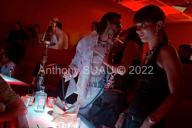 Kiev, Ukraine.July 16, 2005 ..Saturday night in Kiev's Arena night club....