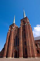Dom in Roskilde bei Kopenhagen, Seeland, Dänemark, Unesco-Weltkulturerbe