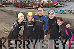 Swimers pictured at the start of the inaugural Ballyheigue swim which went from the slip at Kerryhead to Ballyheigue Beach on Tuesday night from left Angie O'Sullivan, Mags Harty, Ivan Aherne, Mick Harkin and Meave Keegan.