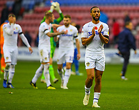 Leeds United's Kemar Roofe applauds the fans after the match<br /> <br /> Photographer Alex Dodd/CameraSport<br /> <br /> The EFL Sky Bet Championship - Wigan Athletic v Leeds United - Sunday 4th November 2018 - DW Stadium - Wigan<br /> <br /> World Copyright &copy; 2018 CameraSport. All rights reserved. 43 Linden Ave. Countesthorpe. Leicester. England. LE8 5PG - Tel: +44 (0) 116 277 4147 - admin@camerasport.com - www.camerasport.com