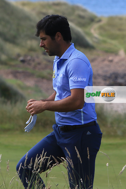 Adrian Otaegui (ESP) on the 4th during Round 4 of the Aberdeen Standard Investments Scottish Open 2019 at The Renaissance Club, North Berwick, Scotland on Sunday 14th July 2019.<br /> Picture:  Thos Caffrey / Golffile<br /> <br /> All photos usage must carry mandatory copyright credit (© Golffile | Thos Caffrey)