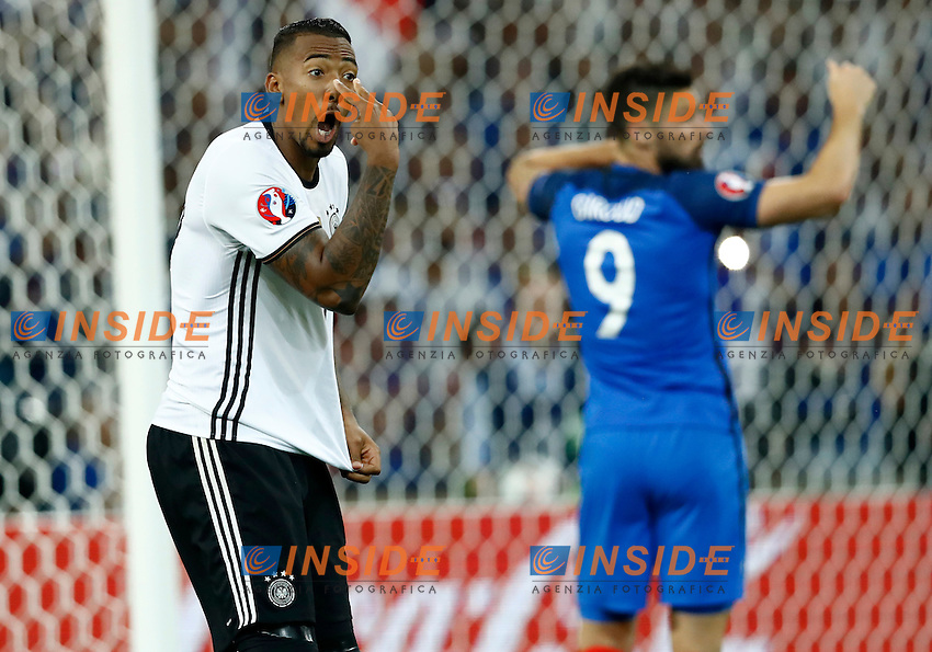 Jerome Boateng (Germany) protesting with the referee Nicola Rizzoli<br /> Marseille 07-07-2016 Stade Velodrome Football Euro2016 Germany - France / Germania - Francia Semi-finals / Semifinali <br /> Foto Matteo Ciambelli / Insidefoto