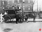 The one-horsepower ambulance service provided by St. Mary's Hospital, circa 1909.