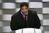 Reverend Doctor William Barber II of North Carolina makes remarks during the fourth session of the 2016 Democratic National Convention at the Wells Fargo Center in Philadelphia, Pennsylvania on Thursday, July 28, 2016.<br /> Credit: Ron Sachs / CNP<br /> (RESTRICTION: NO New York or New Jersey Newspapers or newspapers within a 75 mile radius of New York City)