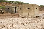 Old wartime pillboxes second world war  anti-invasion defences Bawdsey, Suffolk, England, UK