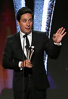 LOS ANGELES - JUNE 2: Chris Cechin-De la Rosa accepts the Best Talk Show Award for 'My Next Guest Needs No Introduction with David Letterman' onstage during the Critics' Choice Real TV Awards at the Beverly Hilton on June 2, 2019 in Beverly Hills, California. (Photo by Willy Sanjuan/PictureGroup)
