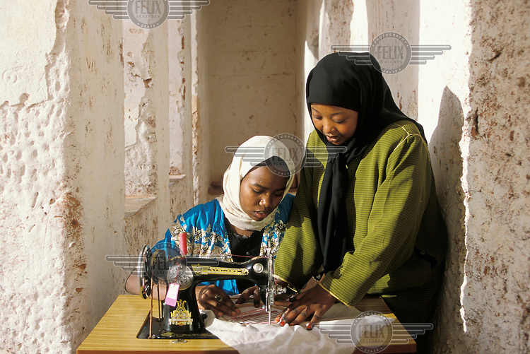 A centre where girls and young women are taught income generation skills, such as sewing and textiles.