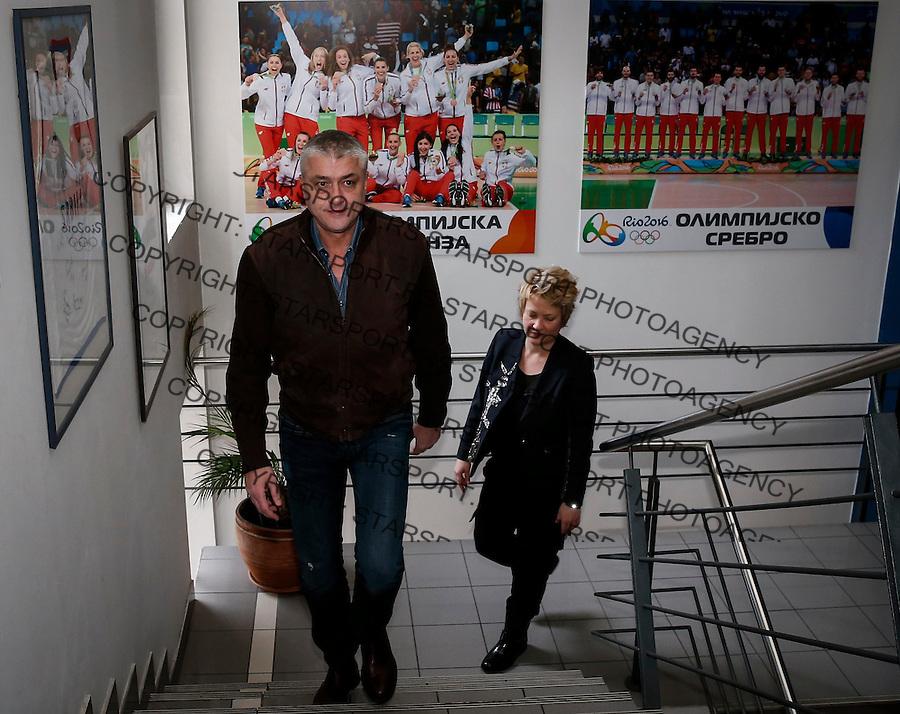 Kosarkaski Savez Srbije<br /> Marina Maljkovic (R) and Predrag Danilovic<br /> Beograd, 03.01.2017.<br /> foto: Srdjan Stevanovic/Starsportphoto&copy;
