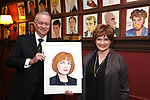 """Max Klimavicius with Blair Brown from the cast of """"The Parisian Woman"""" honored with a Sardi's Wall of Fame Portrait on February 28, 2018 at Sardi's in New York City."""
