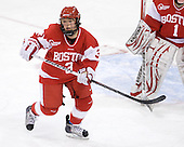 Kasey Boucher (BU - 3) - The Boston College Eagles defeated the Boston University Terriers 2-1 in the opening round of the Beanpot on Tuesday, February 8, 2011, at Conte Forum in Chestnut Hill, Massachusetts.