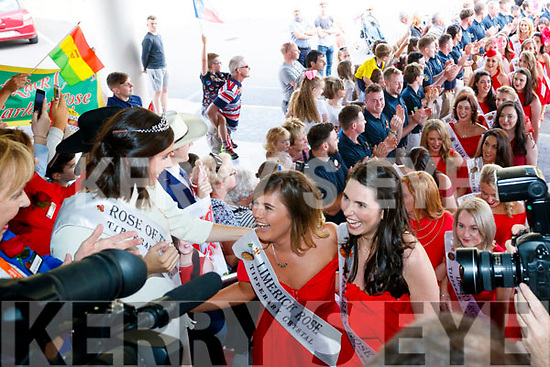 The 2017 Roses arriving at the Rose Hotel, Tralee on Tuesday.