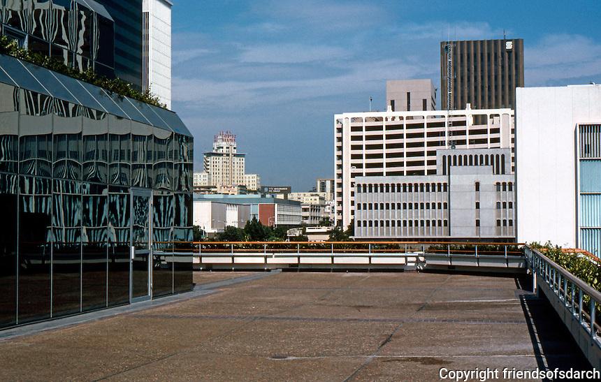 San Diego: Columbia Center--Upper Terrace.  (Photo '82)