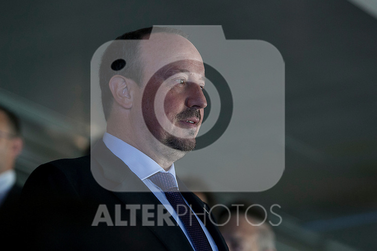 New Real Madrid coach Rafael Benitez during his official presentation at the Santiago Bernabeu stadium in Madrid, Spain. June 03, 2015. (ALTERPHOTOS/Victor Blanco)
