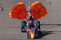 Feb 27, 2016; Chandler, AZ, USA; NHRA top dragster driver Bobby Ray McMahan during qualifying for the Carquest Nationals at Wild Horse Pass Motorsports Park. Mandatory Credit: Mark J. Rebilas-