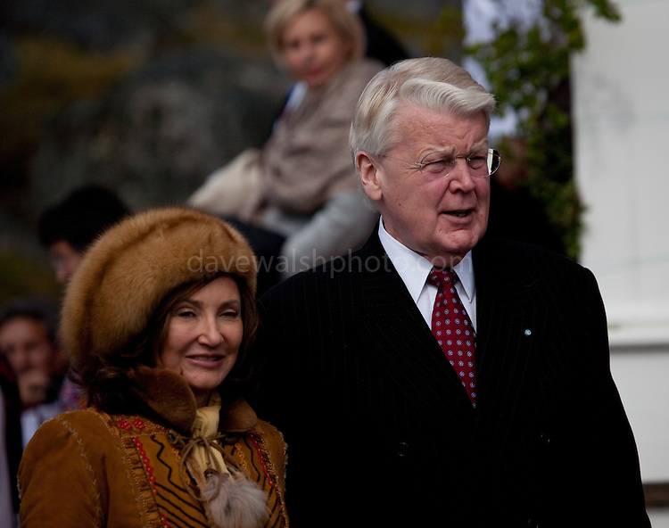 Iceland's president Olafur Ragner Grimsson and Dorrit Moussaieff outside Cathedral Annaassisitta Oqaluffia,  Nuuk ,on Greenland's National Day..From June 21 2009, Greenland moves from being under 'home rule' to 'self-governance' in a ceremony attended by the Danish Royal family and other heads of state.