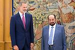 King Felipe VI of Spain in audience with <br /> Sultan Bin Muhammad Al Qasimi of United Arab Emirates. October 09, 2019.. (ALTERPHOTOS/ Francis Gonzalez)