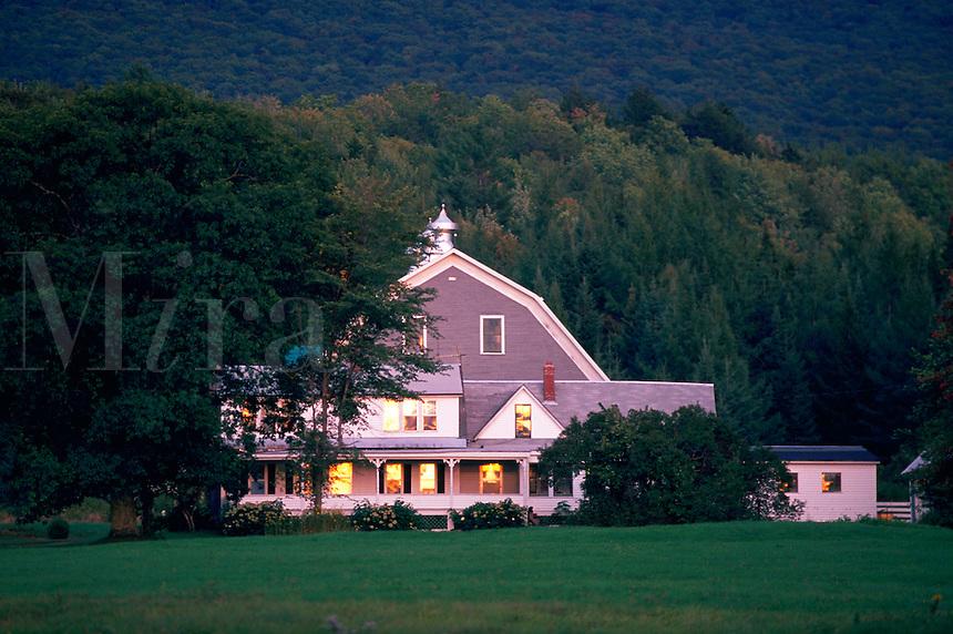 Farmhouse - summer scene.