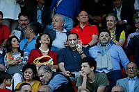 Clemente Mastella , sindaco di Benevento insiema alla moglie Sandra durante la FinalePlayoff di Serie A   Benevento Carpi  allo  Stadio Vigorito  di Benevento , 08 giugno 2017