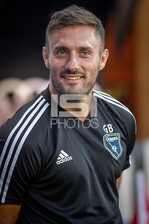 San Jose, CA - Saturday August 03, 2019: Guido Bonini in a Major League Soccer (MLS) match between the San Jose Earthquakes and the Columbus Crew at Avaya Stadium.