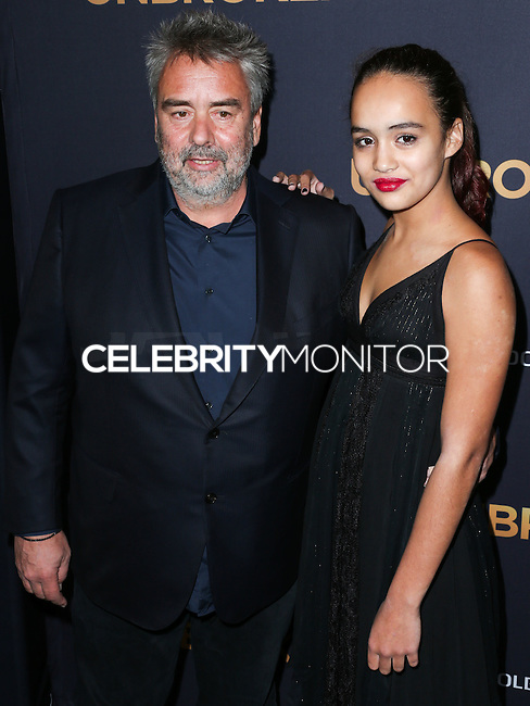 HOLLYWOOD, LOS ANGELES, CA, USA - DECEMBER 15: Luc Besson, Talia Besson arrive at the Los Angeles Premiere Of Universal Pictures' 'Unbroken' held at the Dolby Theatre on December 15, 2014 in Hollywood, Los Angeles, California, United States. (Photo by Xavier Collin/Celebrity Monitor)