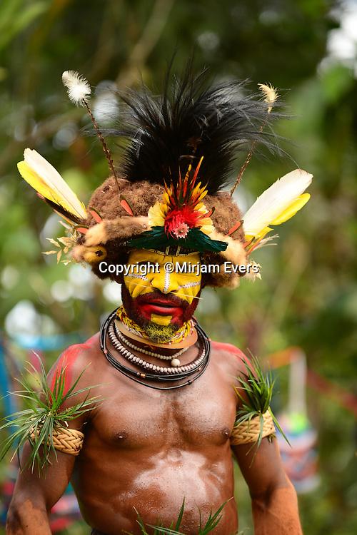 Huli Wigmen Tribe in Tari, Papua New Guinea