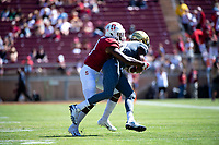 Stanford, Ca. - September 15, 2018: Stanford Cardinal Football ___ the UC Davis Aggies _-_ at Stanford Stadium.