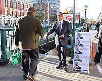 NEW YORK, NY - NOVEMBER 8:  New York State Senator Adriano D. Espaillat, who is running for U.S. Congress to replace retiring long time congressman Charles Rangel, makes a final campaign push at the 125th Street subway station in Harlem in New York, New York on November 8, 2016.  Photo Credit: Rainmaker Photo/MediaPunch