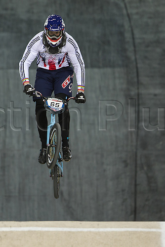 10.04.2016. National Cycling Centre, Manchester, England. UCI BMX Supercross World Cup Finals. Liam Phillips.