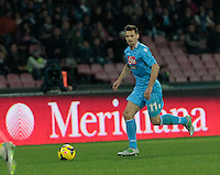 Christian Maggio   in action during the Italian Serie A soccer match between SSC Napoli and Chievo  at San Paolo stadium in Naples, January 25, 2014