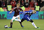 21 November 2010: Colorado's Jeff Larentowicz (left) and Dallas' Brek Shea (right). The Colorado Rapids defeated FC Dallas 2-1 in overtime at BMO Field in Toronto, Ontario, Canada in MLS Cup 2010, Major League Soccer's championship game.