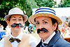 The Chap Olympiad - this world famous event is a 'celebration of eccentricity, sporting ineptitude and immaculate trouser creases', Bedford Square, London 2014