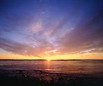 USA, Maine.   Atlantic Ocean Sunrise