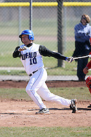 April 5, 2009:  /c/ Brad Cochrane (10) of the University of Buffalo Bulls during a game at Amherst Audubon Field in Buffalo, NY.  Photo by:  Mike Janes/Four Seam Images