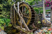 Waterwheel Near the Entrance of Buchart Gardens in Canada