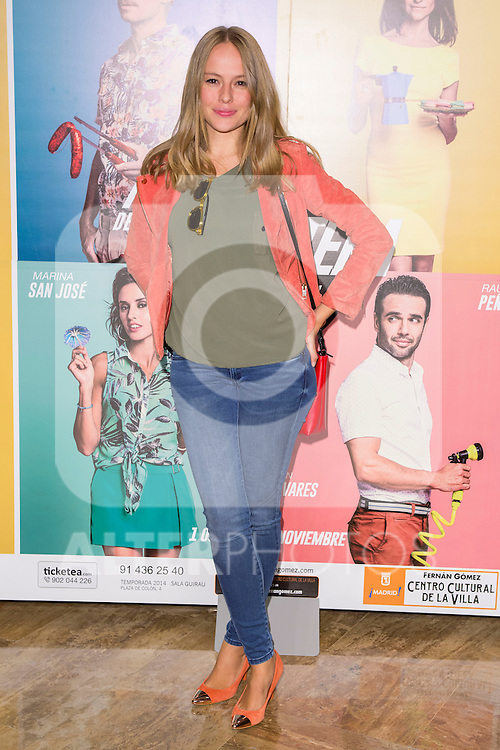 "Esmeralda Moya attends the Premiere of the Theater Play ""Al Final de la carretera"" at Fenan Gomez Theatre in Madrid, Spain. October 7, 2014. (ALTERPHOTOS/Carlos Dafonte)"