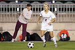 07 November 2008: Virginia's Sarah Senty. The University of Virginia and Virginia Tech played to a 1-1 tie after 2 overtimes at WakeMed Stadium at WakeMed Soccer Park in Cary, NC in a women's ACC tournament semifinal game.  Virginia Tech advanced to the final on penalty kicks, 2-1.