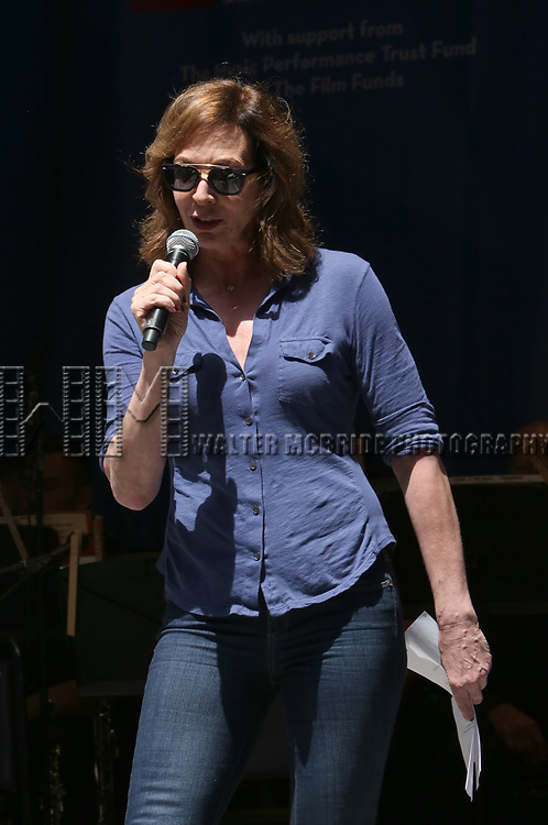 Allison Janney on stage at United Airlines Presents #StarsInTheAlley free outdoor concert in Shubert Alley on 6/2/2017 in New York City.