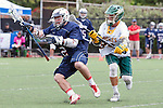Orange, CA 05/16/15 - Matt Kausel (Dayton #2) and Logan Warren (Concordia #33) in action during the 2015 MCLA Division II Championship game between Dayton and Concordia, at Chapman University in Orange, California.