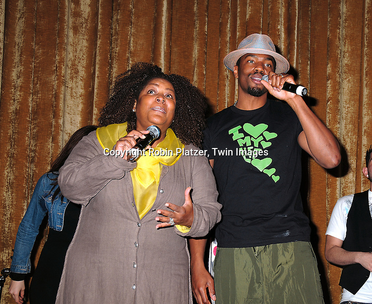 Tobias Truvillion, of One Life to Live, and wife Penwah at The Love Our Children USA National Love Our Children Day on April 5, 2008 at Spotlight Live in New York City which was hosted by Cameron Mathison. ....Robin Platzer, Twin Images